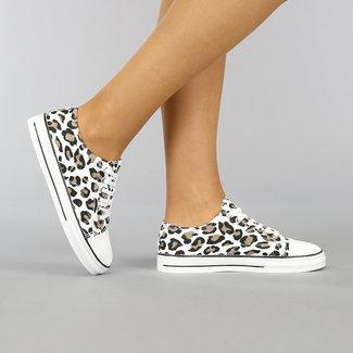 Lage Canvas Sneakers met Luipaardprint