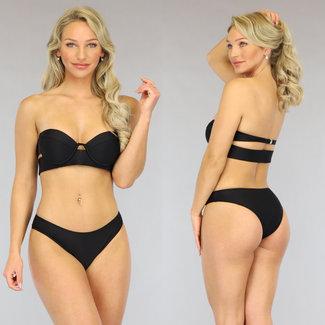 Zwarte Push-Up Bandeau Bikini