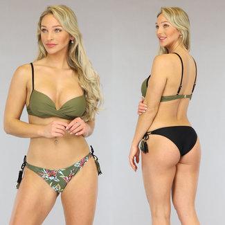 Groene Push-Up Bikini met Print Broekje