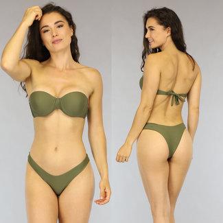 NEW1606 Groene Push-Up Bandeau Bikini