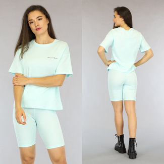 NEW2306 Mintgroen Oversized French Touch T-Shirt