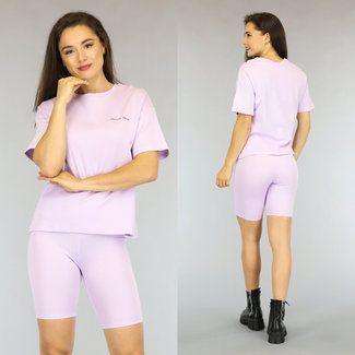 NEW2306 Lila Oversized French Touch T-Shirt