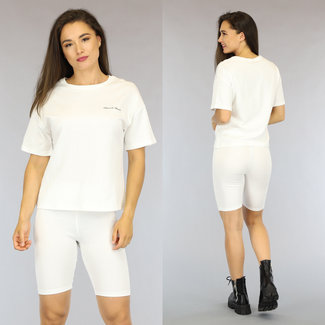 NEW2306 Wit Oversized French Touch T-Shirt