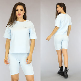 NEW2306 Lichtblauw Oversized French Touch T-Shirt