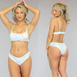 NEW1606 Pastel Tie Dye Bikini