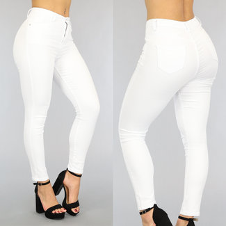 NEW3006 Witte High Waist Push Up Jeans