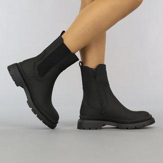 NEW2807 Zwarte Chelsea Boots met Ritssluiting