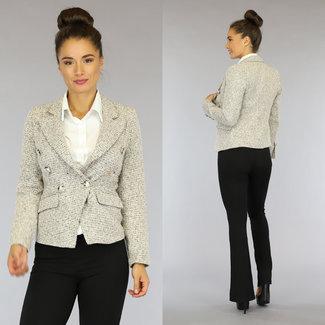 Nette Tweed Blazer met Knopen
