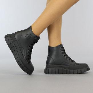 Zwarte Hoge Sneakers met Grove Zool