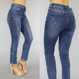 NEW2209 Donkerblauwe Relaxed Fit Jeans