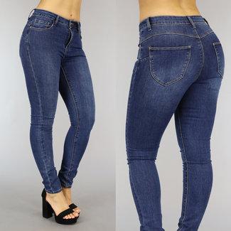 NEW2010 Blauwe High Waist Stretch Jeans
