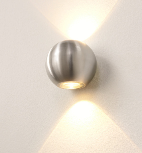 Wandlamp LED Denver Aluminium IP54 10cm Ø
