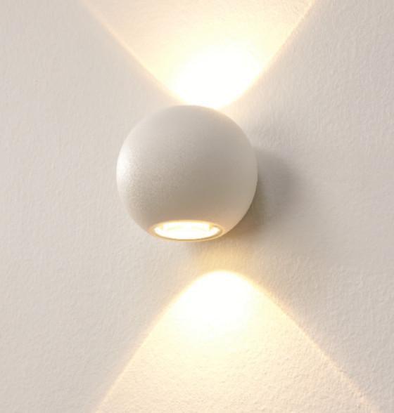 Wandlamp LED Denver Wit IP54 10cmØ
