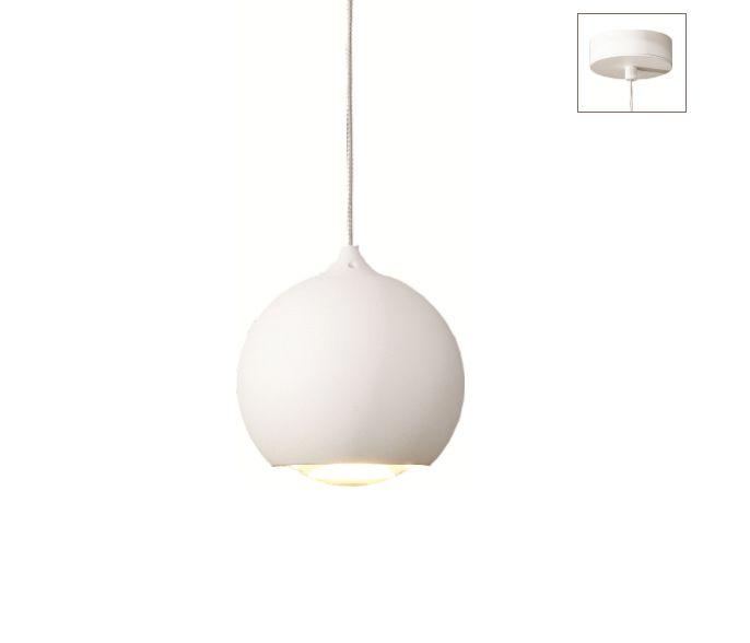 Artdelight Hanglamp LED Denver Wit 10cm Ø