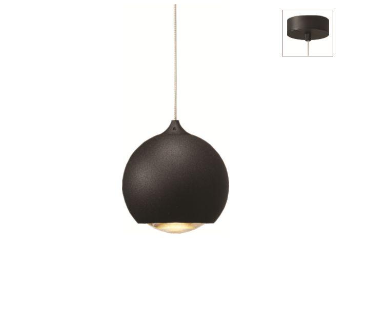 Artdelight Hanglamp LED Denver Mat Zwart 10cm Ø