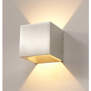Artdelight Wandlamp LED Cube ALU IP54