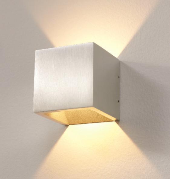 Wandlamp LED Cube ALU IP54