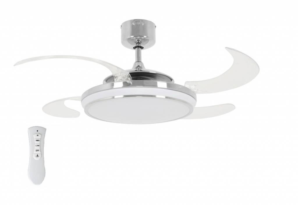 Lucci Plafondventilator Fanaway LED Chroom