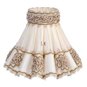 Vloerlamp Kap Klassiek Rokkap Rozet Lever 72cm