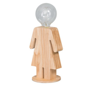 Tafellamp Eve Hout Klein