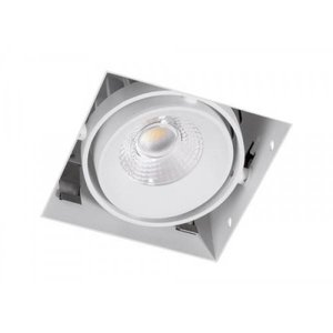Inbouwspot Vierkant Wit Trimless 7Watt Led
