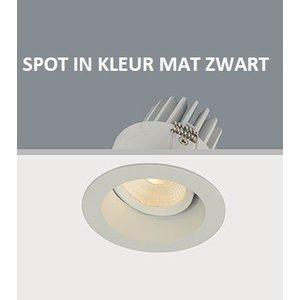 Artdelight Inbouwspot LED Mat Zwart Rond Verdiept IP44