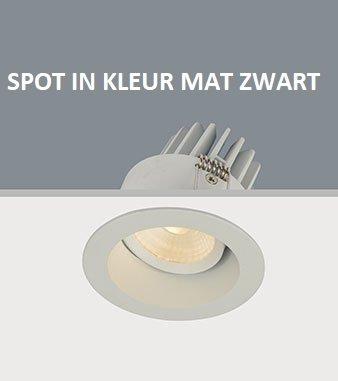 Inbouwspot Led Mat Zwart Rond Verdiept Ip44