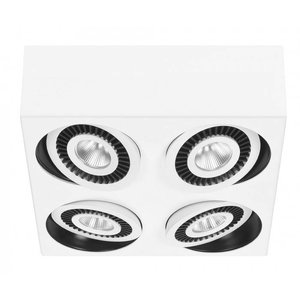 Spot Box Wit Led 4 Lichts