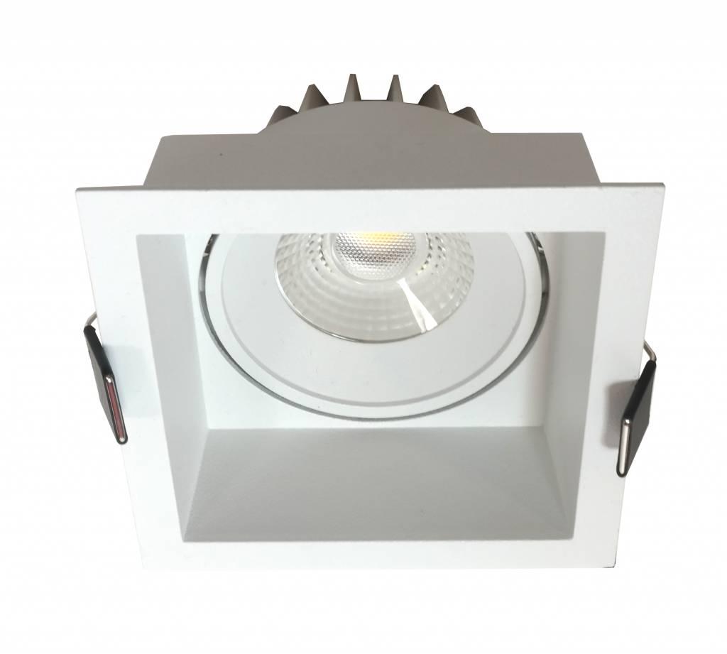 Inbouwspot Vierkant Wit 10watt Led Ip44