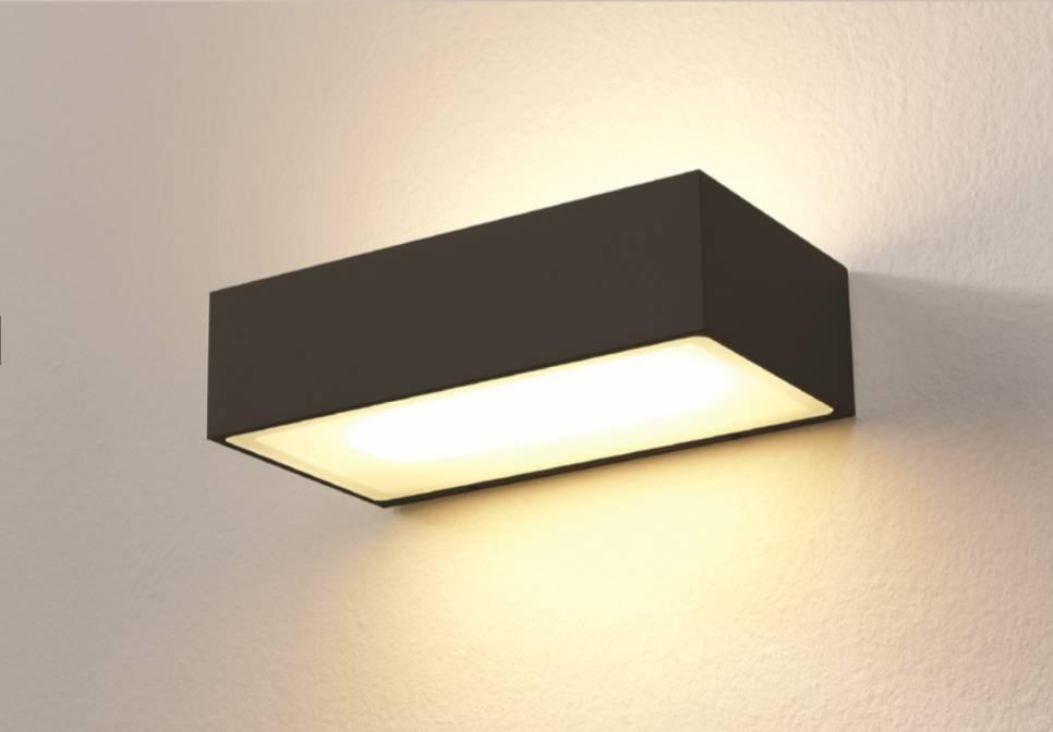 Artdelight Wandlamp LED Eindhoven 150 Zwart IP54