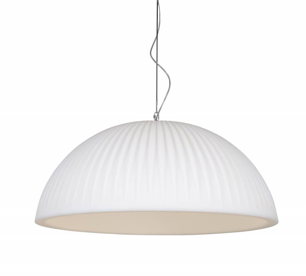 Hanglamp Basic Dome 90 Rib White