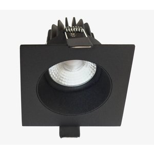 Artdelight Inbouwspot LED Vierkant Verdiept Mat Zwart IP44