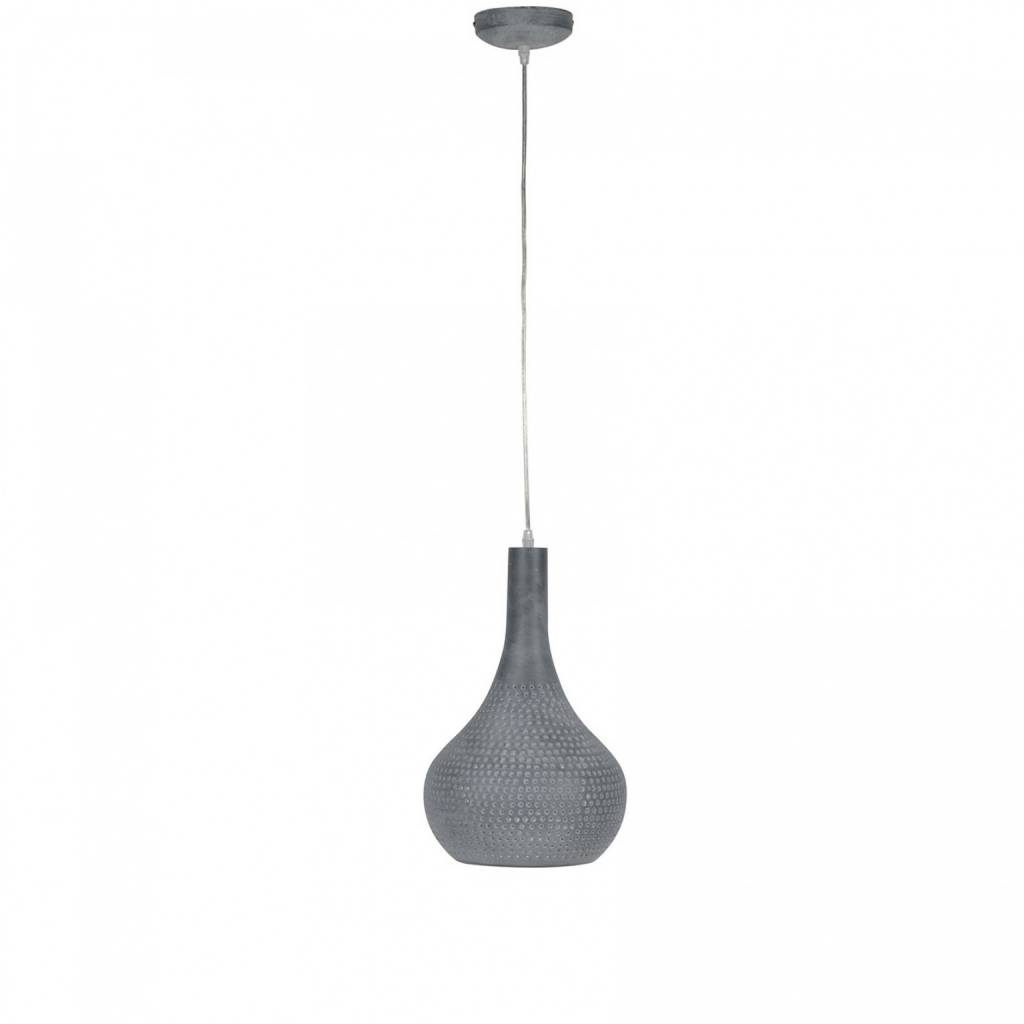 Hanglamp Kegel Beton Look 1 Lichts