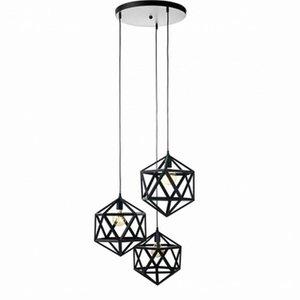Hanglamp Triangel Zwart 3x40cm