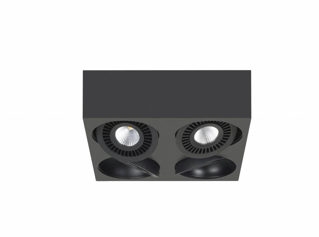 Spot Box Zwart Led 4 Lichts