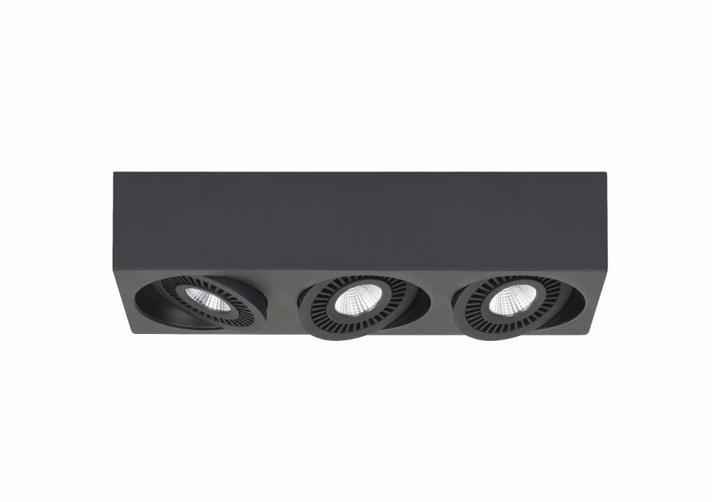Spot Box Zwart Led 3 Lichts