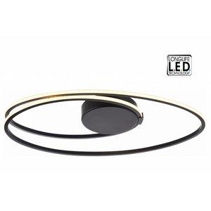 Plafondlamp Ophelia Oval Led Mat Zwart