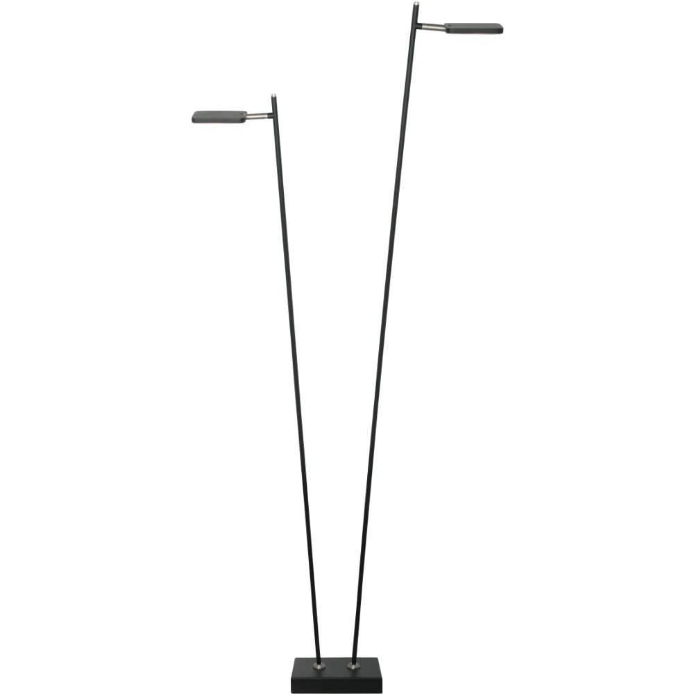 Vloerlamp Block Zwart Led 2Lichts