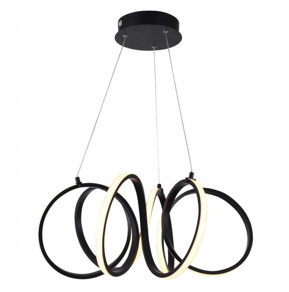 Hanglamp Raffinato Mat Zwart Led 60cm