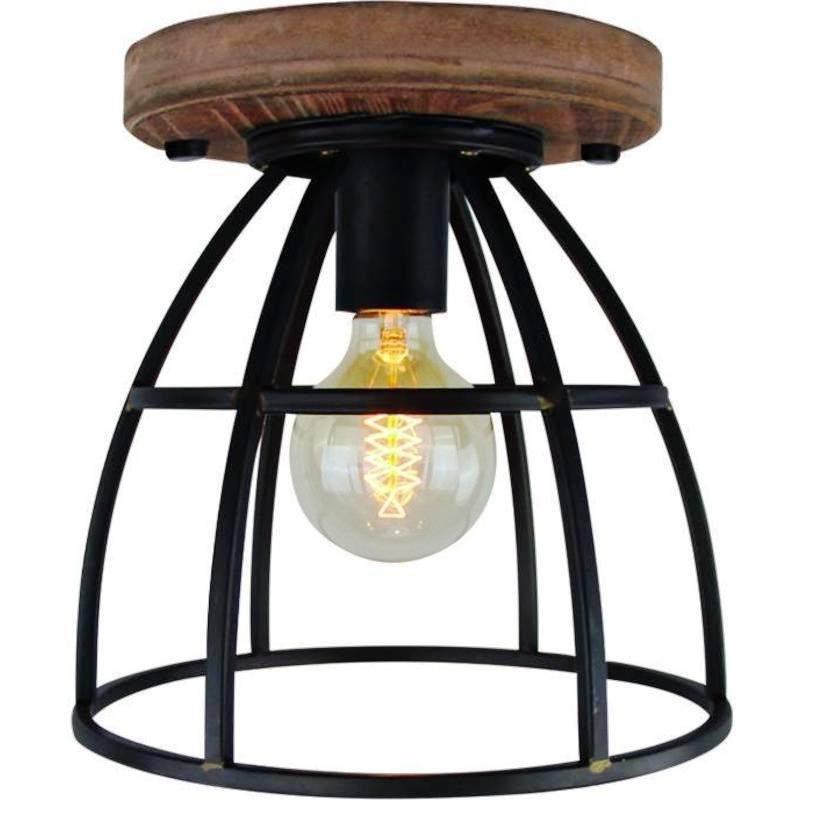 Plafondlamp Vintage Black Steel 35cm