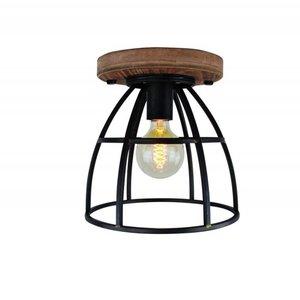 Plafondlamp Vintage Black Steel 25cm
