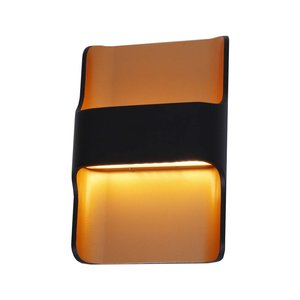 Wandlamp LED Dallas Zwart Goud IP54