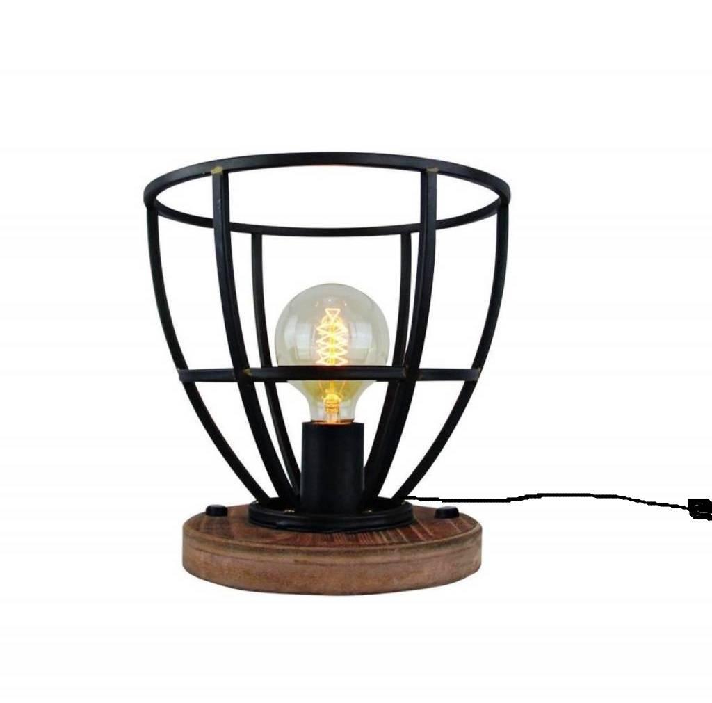 Tafellamp Vintage Black Steel 25cm