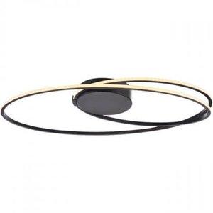 Plafondlamp Ophelia Mat Zwart 60cm Oval