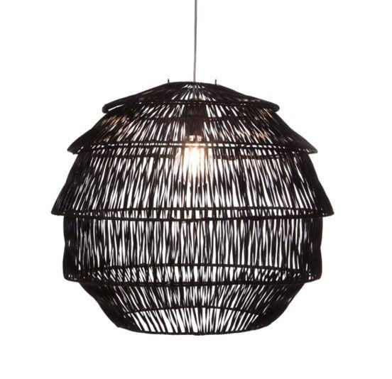 Hanglamp Rotan Artichoke Zwart � 60 cm