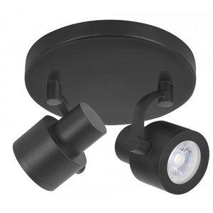 Spot Alto Mat Zwart 2 lichts LED
