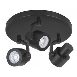 Spot Alto Mat Zwart 3 lichts LED