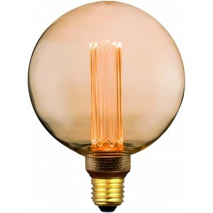 E27 5Watt Led Gold 125mm  incl. Stappen Dimmer