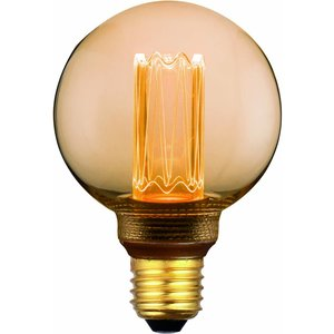E27 5Watt Led Gold 80mm  incl. Stappen Dimmer