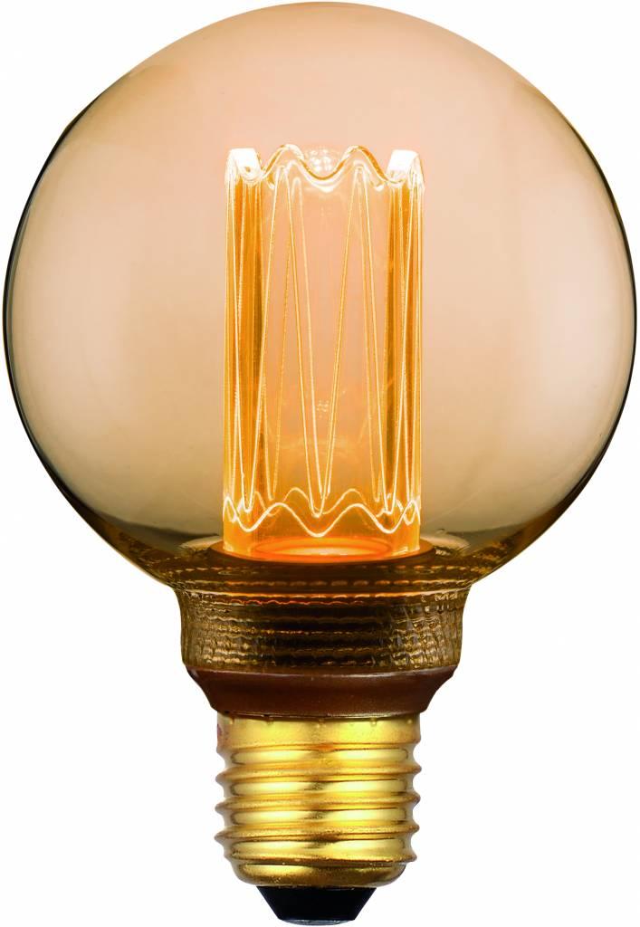 E27 5Watt Filament Globe Led incl. 3 Stappen Dimmer